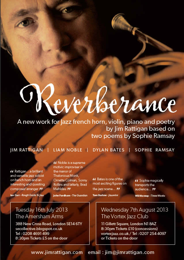 image of a flyer for Reverbarance, a new work by Jim Rattigan