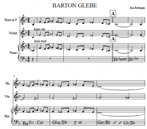 Image of Barton Glebe score written by Jim Rattigan