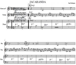 Jacaranda score image