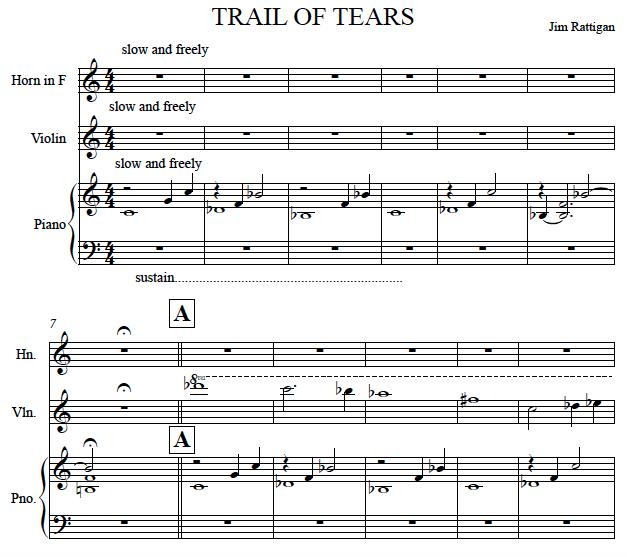 Trail of Tears score image