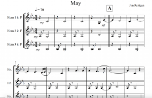 The opening of May for 3 French Horns